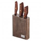"""""""Maestro"""" Набор ножей (6 предметов: деревянная колода, деревянные ручки)   MR-1416"""