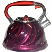 """Hoffmann"" Чайник 3,0 л, со свистком, нерж.сталь, 3-х слойное капс.дно   HM 5582"