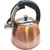"""""""Hoffmann"""" Чайник 3,0 л со свистком, нерж.сталь, 3-х слойное капс.дно, индукция   HM 5572"""