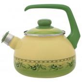 2071/Чайник со свистком 2,5 л/Оливки