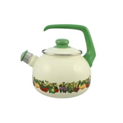 2100/С Чайник со свистком 2,5 л/Фруктовый сад