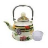 """""""Hoffmann"""" Чайник заварной 1,1 л, с сеткой, эмалированный   НМ 4523"""