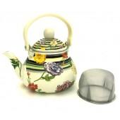 """""""Hoffmann"""" Чайник заварной 1,5 л с сеткой, эмалированный   НМ 4543"""
