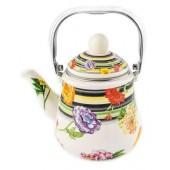 """""""Hoffmann"""" Чайник заварной 1,5 л с сеткой, эмалированный   НМ 4563"""