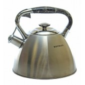 """Hoffmann"" Чайник 3,3 л, со свистком, нерж.сталь, 3-х слойное капс. дно   HM 55101"