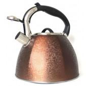 """""""Hoffmann"""" Чайник 3,0 л со свистком, нерж.сталь, 3-х слойное капсул.дно, индукция   НМ 55108-4"""