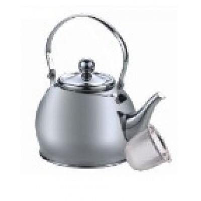 """Hoffmann"" Чайник 1,2 л заварной, нерж.сталь, 3-х слойное капс.дно   НМ 55109"
