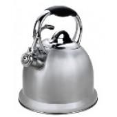 """""""Hoffmann"""" Чайник 2,8 л со свистком, нерж.сталь, 3-х слойное капс.дно, индукция   НМ 55118"""