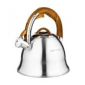 """""""Hoffmann"""" Чайник 3,0 л со свистком, нерж.сталь, 3-х слойное капсул.дно, индукция НМ 55162"""