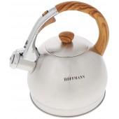 """""""Hoffmann"""" Чайник 2,0 л со свистком, нерж.сталь, 3-х слойное капсул.дно, индукция   НМ 5521-1"""