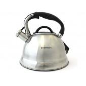 """""""Hoffmann"""" Чайник 3,0 л со свистком, нерж.сталь, 3-х слойное капс.дно   НМ 5566"""